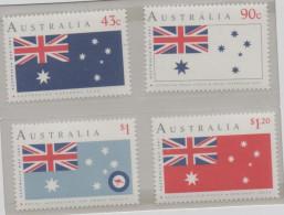 AUSTRALIA, 1991, MNH, FLAGS, AUSTRALIA DAY,4v - Stamps