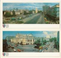 A Set Of 21 Pcs - Kiev - Ukraine - The Soviet Union - 1982- City - Architecture - Monuments - Transport - Building - Ucraina