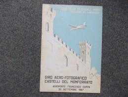 8129-GIRO AEREO-FOTOGRAFICO CASTELLI DEL MONFERRATO-AEROPORTO FRANCESCO CAPPA-CASALE(AL)-1967 - Old Paper