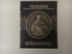 791 - Italie Veltiner Stägafässli Jurg Jenatsch Oberst Im Veltiner Krieg 1596-1639 - Etiquettes