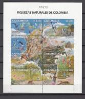 Colombia 2002,8V In Sheetlet,birds,vogels,oiseax,vögel,uccelli,aves,whale,deer,MNH/Postfris(L1627) - Oiseaux