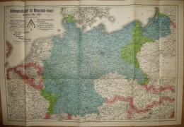 Deutsches Reich - 55cm X 80cm 1:2'000'000 - Gea Verlag GmbH Berlin - Werbekarte: Aktiengesellschaft Für Mineraloel-Impor - Karten