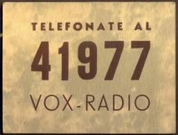 ITALIA - ADVER.  VOX  RADIO - TORINO - Cc 1930 - Radio & TSF