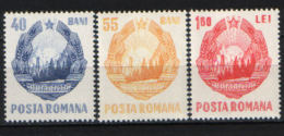 Romania/ Rumänien 1967,National Arms , Mi.2631-2633, MNH - Nuevos