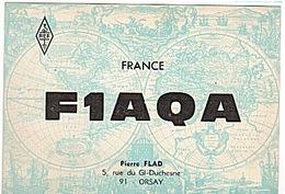 CARTE - RADIO - QSL - ORSAY - FLAMME - 1969 - - Radio Amateur