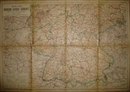 Karte Vom Rhein-Oder-Gebiet 1948 - Süddeutschland Teil II Amerikanische Und Französische Besatzungszone - 60cm X 86cm 1: - Karten