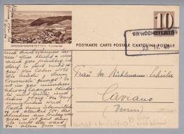 Schweiz Bildpostkarte Zu#169.0118 Grosshöchstetten 1948-04-23 Neuer Aushilfs-O übereinstimmend - Entiers Postaux
