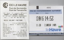 Le Havre Normandie : Péage (Bridge Toll) Pont De Normandie + Parking Au Havre - Other