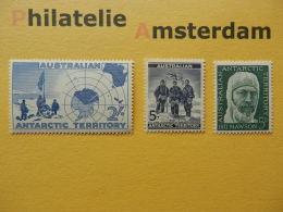 Australian Antarctic Terr. (AAT) 1957-61, RESEARCH EXPEDITION FLAGS MAPS: Mi 1, 6, 7, ** - Antarctic Expeditions