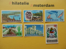 Tanzania 1965, FLORA FAUNA TANZANIA SCENES LANDESMOTIVE: Mi 13-18, ** - Tanzania (1964-...)