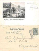 Ellera (Albisola Superiore) Antica E Nuova Chiesa Anno 1909 RARA (R-L 155) - Savona