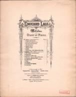 Partition : MELODIES Pour Chant Et Piano MARINE - Edouard LALO - Musique Classique