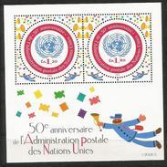 2001, UNO-Genf, 426/27 BLOCK 16, 50 Jahre Postverwaltung Der Vereinten Nationen (UNPA). MNH **, - Office De Genève