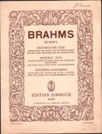 Partition :  STROPHES SAPHIQUES, OP.94 N°4, Rose Que L'on Cueille, En La Nuit Sereine - BRAHMS  -  Edition Simrock - Musique Classique