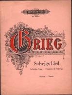 Partition : SOLVEJGS LIED, Chanson De Solvejg - Beliebte LIEDER - Edward GRIEG - Musique Classique
