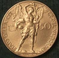 M_p> Vaticano Pio XI 50 Centesimi 1932 Tiratura 80.000 Pezzi ALTA CONSERVAZIONE - Vaticano