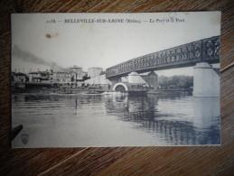 Belleville Sur Saone Port Et Pont  Cachet Ambulant Lyon Dijon   Bateau Parisien  D - Belleville Sur Saone