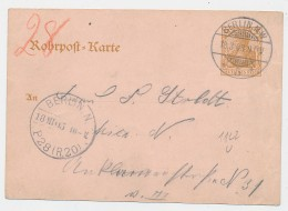 D.-Reich -Rohrpost Ganzsache  /Berlin - Stempel... ( Be7967  ) Siehe Scan - Stamped Stationery