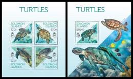 SOLOMON Isl. 2013 -  Turtles - YT 1888-91 + BF223; CV = 27 € - Maritiem Leven