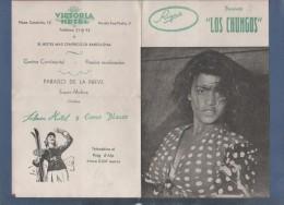 PROGRAMAS - LOS CHUNGOS INTEGRADO POR LOS ARTISTAS - BARCELONA 1955 - VICTORIA HOTEL PLAZA CATALUÑA / RONDA SAN PEDRO - - Programas