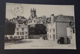QUIMPERLE - La Place Nationale - Buvette Quimperloise - Pub écoilier LU - Quimperlé