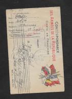 MILITARIA : CPA EN FRANCHISE MILITAIRE : SOLDAT 7e CUIRASSIERS 12e ESCUADE OB URY  1915  RECLOSES PAR IVRY - WW I