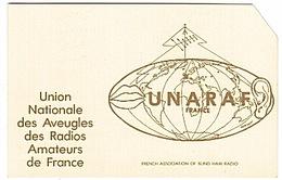 CARTE - RADIO - QSL -  AVEUGLES - RADIOS - AMATEURS  - - Radio Amateur