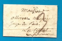 Bouches Du Rhone - Aix Pour La Ciotat - 1826 - Postmark Collection (Covers)