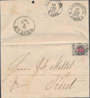 Russia 1877 Cover 8 Kopeck St. Petersburg To Trieste Austria Italy (44_2494) - 1857-1916 Imperium