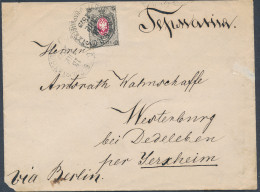 Russia 1879 Cover 7 Kopeck St. Petersburg Railway Station To Wertenburg Germany (44_2495) - Briefe U. Dokumente