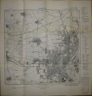 Magdeburg 1936 - 57cm X 60cm 1:25'000 - Messtischblatt 2100 Neue Nummer 3835 - Herausgeber Reichsamt Für Landesaufnahme - Karten