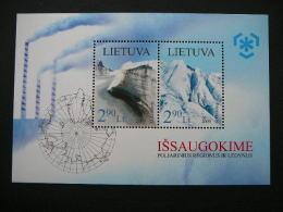 Lietuva Litauen Lituanie Litouwen Lithuania 2009 MNH # Mi. 1003/4 Block 38 Preserve The Polar Regions And Glaciers. - Lituanie