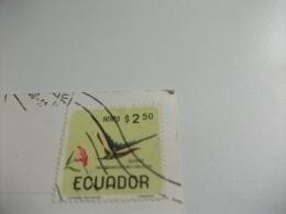"STORIA POSTALE FRANCOBOLLO COMMEMORATIVO Ecuador Vista Parcial De Quito "" Relicario De Arte Colonial "" - Ecuador"