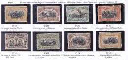 ROUMANIE  1906 ANNIVERSAIRE GOUVERNEMENT 172 A 181 MH SAUF 175/6 OBLIT - 1881-1918: Carol I
