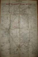 Wegekarte Des Magdeburger Vereins Für Radfahrwege E. V. 1926 - Sonderkarte 1:50'000 54cm X 80cm - Karten