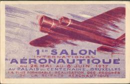 Aérogramme - 1er Salon Aéronautique 26 Mai Au 8 Juin 37 - Zonder Classificatie