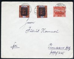 A4020) Saargebiet Brief Von Merzig 1.5.21 Mit Plattenfehler Mi.59III Ua. - 1920-35 Saargebiet – Abstimmungsgebiet