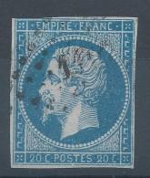 Lot N°30725  Variété/n°14A, Oblit PC 1102 DIJON (20), Filet EST Et SUD - 1853-1860 Napoleon III