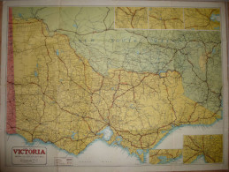 Road Map Of Victoria Riverina & Southern New South Wales - 76cm X 102cm - Published By H.E.C. Robinson - Sonstige