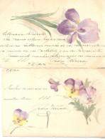 PEDRO VARAU FESTEJA A CHARLOTTE PIQUET EN 1904 ENVIANDOLE ESTAS POSTALES DE FLORES DE BUENOS AIRES A NEUILLY  SUR SEINE - Koppels