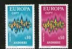 ANDORRE FRANCAIS-FRENCH ANDORRA 1972 EUROPA   N°217/18  NEUF MNH** - Andorre Français