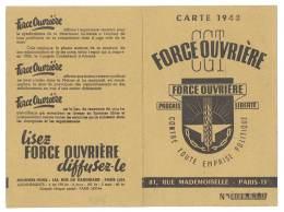 Carte CGT / Force Ouvrière, Année 1948 ( Syndicat Des Agents Des Bases Aériennes ) - Old Paper