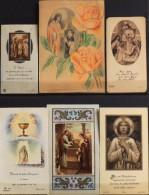 LOT De 6 IMAGES RELIGIEUSES DIVERSES - En Très Bon Etat - - Santini