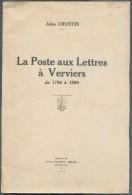 CRUSTIN Jules, La Poste Aux Lettres à Verviers De 1794 à 1890, Ed. Philatéliste Belge, Bruxelles, 1935, 23 Pages.  Etat - Matasellos