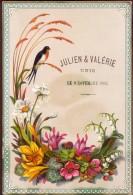 Menu - Huwelijk Mariage Julien & Valerie - Gent Gand 1882 - Menus
