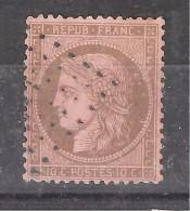 CERES N° 58, 10 C Brun / Rose Obl ANCRE Des Messageries Maritimes , TB - 1870 Assedio Di Parigi