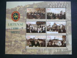 Lietuva Litauen Lituanie Litouwen Lithuania 2008 MNH # Mi. 974/9 Block 36 Millennium Of Lithuania. - Lituania