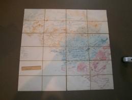 CARTE DE BELGIQUE - Dessinée, Colorée Et Notée MANUELLEMENT  - Entoilée - Nom De J.MASSART - Geographical Maps
