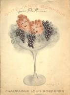 Menu - Publicité Reclame Champagne Louis Roederer - Menus