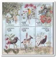 Liberia 2001, Postfris MNH, Flora, Fauna, Birds - Liberia
